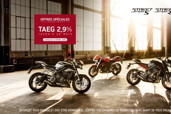 OFFRE TAEG 2.9% TRIUMPH STREET TRIPLE 765